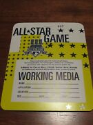 1997 Mlb All Star Game Working Media Pass Cleveland Jacobs Field