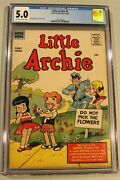 Little Archie 1 Cgc 5.0 Vg/fn 1956 Ow/wp Bob Bolling Story And Art