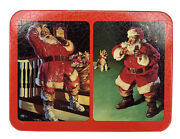 Coca Cola Nostalgia Playing Cards Santa Factory Sealed Double Deck In Tin 1993