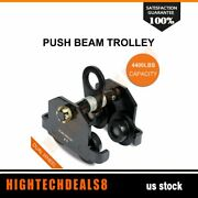 Push Beam Track Roller Trolley 2000kg 4400lb For Straight Or Curved I-beams Us
