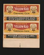 Advertising Chewing Gum Wrapper Label --- Yellow Kid Pulver Company 1920's