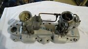 Real Deal 1950s Ford Flathead 2-2 Evans Intake And Carbs 32 Coupe Hot Rod