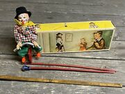 Fewo Vintage Toy Tight Rope Walker, Original Box, West Germany Clown Circus