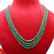Top Quality Emerald Threads String Strand Beaded Necklace For Gift Vj-9281