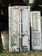 Vtg Pair 1800and039s Old Wooden Window Shutters Architectural Salvage 63in X14in