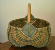 Hand Crafted In The Appalachian Mountains Vintage 26 Rib Buttock Basket Gods Eye