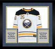Frmd Rasmus Dahlin Buffalo Sabres Signed White Jersey And Nhl Debut 10/4/18 Insc