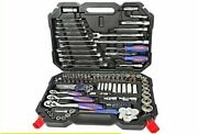 Ratchet Spanner Wrench Socket Set Chrome Steel Anti Corrosion Screwdrivers Tools