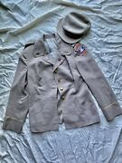 Original Named Wwii Womens Officer Waac Uniform Grouping 5th Army Recruiting
