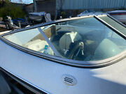 2000 Four Winns Horizon 170 Right Side Curved Windshield Glass Whole Piece