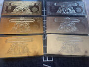 2000 Two Dollar Silver And 22 Kt Gold Foil Certificates