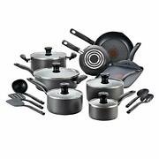 T-fal Fba_a821si64 Initiatives Nonstick Inside And Out 18-piece Black