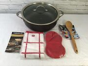 Calphalon Infused Anodized 10 Qt. Dutch Oven W/ Accessories