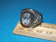 U.s. Army Military Police Menand039s Clear Stone Ring Size 12 - Nos - Alpha Brand