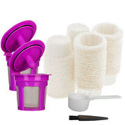 1-300x Coffee Disposable Paper Filter And Reusable K Cup Coffee Filter For Keurig