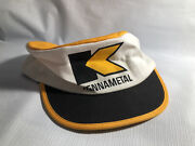 Vintage Kennametal Painters Hat Cap Cloth Htf Fitted Coal Mining Yellow Baseball