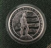 1 Oz .999 Bu 2nd Amendment/ Right To Bear Arms Silver Round In Capsule