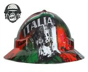 Hydrographic Mining Safety Hard Hat Construction Industrial Italia Flag Wide