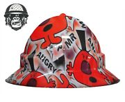 Hydrographic Mining Safety Hard Hat Construction Industrial Mr Angry Wide
