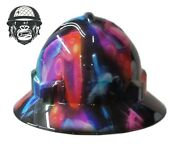 Hydrographic Mining Safety Hard Hat Construction Industrial Neon Gamer Wide