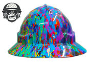 Hydrographic Mining Safety Hard Hat Construction Industrial Paint Wide