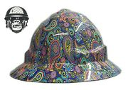 Hydrographic Mining Safety Hard Hat Construction Industrial Paisley C Wide