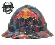 Hydrographic Mining Safety Hard Hat Construction Industrial Redbull Wide