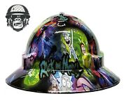 Hydrographic Mining Safety Hard Hat Construction Industrial Ricky And Morty Wide