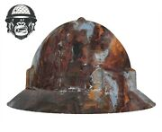 Hydrographic Mining Safety Hard Hat Construction Industrial Rustic Wide
