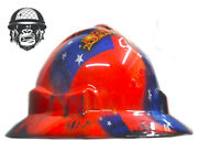 Hydrographic Mining Safety Hard Hat Construction Industrial Samoa Flag Wide