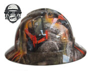 Hydrographic Mining Safety Hard Hat Construction Industrial Skid Steer Wide