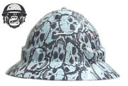 Hydrographic Mining Safety Hard Hat Construction Industrial Skull Wide