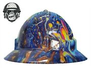 Hydrographic Mining Safety Hard Hat Construction Industrial Swirl Wide