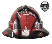 Hydrographic Mining Safety Hard Hat Construction Industrial Sydney Swans Wide