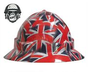 Hydrographic Mining Safety Hard Hat Construction Industrial Union Jack Wide