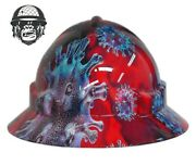 Hydrographic Mining Safety Hard Hat Construction Industrial Virus Wide