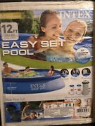 Intex 12 Ft X 30 In Easy Set Above Ground Swimming Pool With Filter Pump 28131eh
