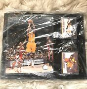 Nba Kobe Bryant Purple Reign Photograph And Card Collectible Wall Frame Art