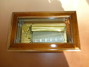 Vintage Swiss Reuge 72 /3 Music Box Beethoven Edition Crystal Glass Wooden Case