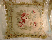 18 Shabby Chic French Country Theme Floral Aubusson Design Pillow Cover Cushion