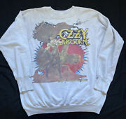Vintage Ozzy Osbourne The Ultimate Sin Crewneck Sweater Xl Fits Smaller 1980s