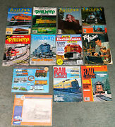 Mixed Lot Of 12 Vintage Train Magazines With A 1952 Toy Trains Magazine