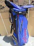 Cameron Pin Flag And Crest Blue Stand Bag 6 Way = Very Rare