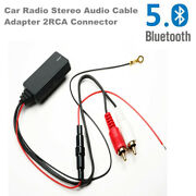 Bluetooth 5.0 Car Radio Stereo Audio Cable Adapter 2rca Connector Music Aux Wire