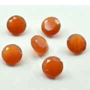 50 Pcs Natural Red Onyx 10mm Round Faceted Cut Loose Gemstone Polished Jewelry