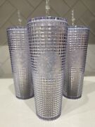 Starbucks China 2021 Space Glitter Grid Studded Tumbler Cold Cup 710ml 24oz