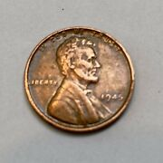 1945 Lincoln Wheat Penny, Good Condition, Old Us Coin, No Mint Mark