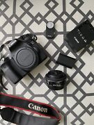 Canon Eos 70d 20.2mp Digital Slr Camera - Black Body 24mm Lens And More