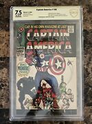Captain America 100 Graded 7.5 Stan Lee Signed