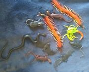 Lot Of 10 Vintage China Oily Rubber Monster Jiggler Creatures Lot Nos